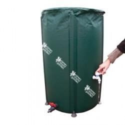 Depósito plegable verde de 100 litros