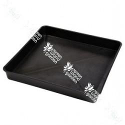 Bandeja bañera de color negra y de forma cuadrada - 120 x 120 x 12
