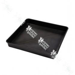 Bandeja bañera de color negra y de forma cuadrada - 80 x 80 cm.