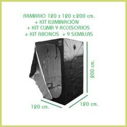 Kit chambre de culture 120 x 120  600 w - Terre