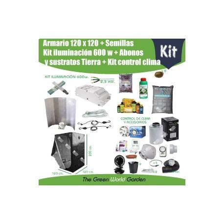 Kit de armario 120 x 120 para cultivo de interior