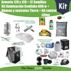 Kit chambre de culture 120 x 120 - Cooltube 600 w - Terre