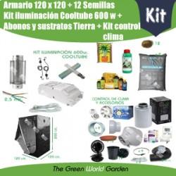 Kit armario 120 x 120 - Cooltube 600 w - Tierra