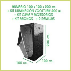 Kit 100x100 Cooltube 400 w - Tierra