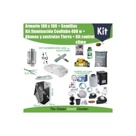 Kit armario 1 x 1 - Cooltube 400w - Tierra