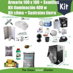 Kit armario 1 x 1 - Foco 400 w - Tierra