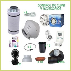 Kit chambre de culture 120 x 120 600 w réglable, Adjust-A-Wings - Terre