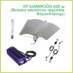 Kit 120x120 600 w regulable, Adjust-A-Wings - Tierra