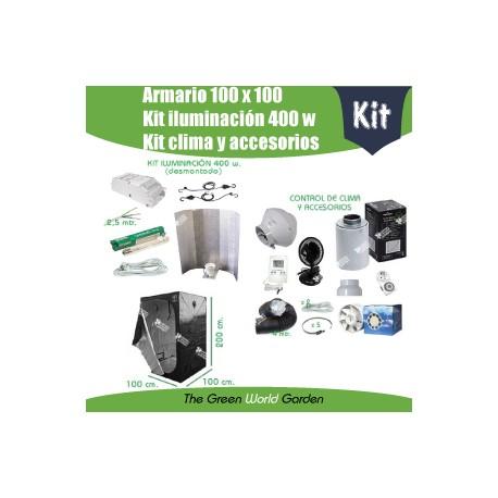 Kit armario 1 x 1 - Foco 400 w. desmontado