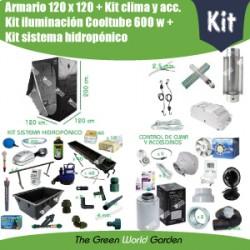 Kit hydroponie 120 x 120 Cooltube 600 w