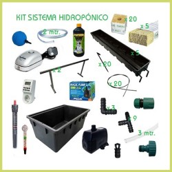 Kit hidropónico 120 x 120 Cooltube 600 w