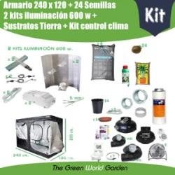 Kit tierra 240 x 120 - 2 Focos 600 w