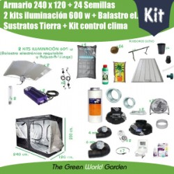 Kit 240 x 120 - 2 Focos 600 w Adjust-A-Wings