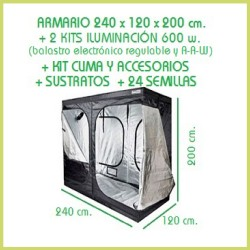Kit chambre de culture 240 x 240 - 2x600 w Adjust-A-Wings