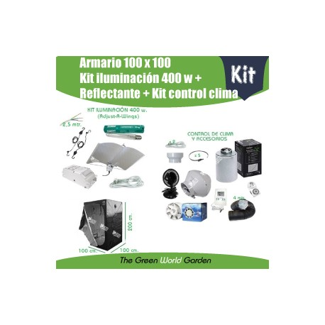 Kit armario 1 x 1 - Foco 400w Adjust-A-Wings