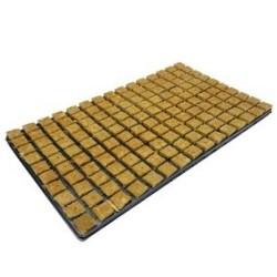 Bandeja con 150 tacos de Lana de Roca - 25 x 25 x 40 - ATAMI