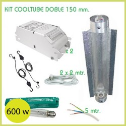 KIT ILUMINACIÓN COOLTUBE DOBLE 150 mm 600 w
