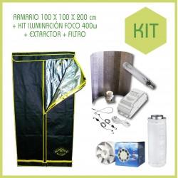Kit armario 100 x 100 ECO 400 w - Tierra