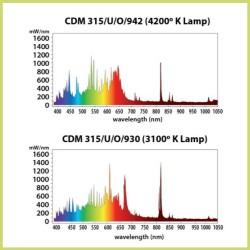 Luminaria SUN SYSTEM LEC 630 + 2 bombillas Philips CDM-T 3100k