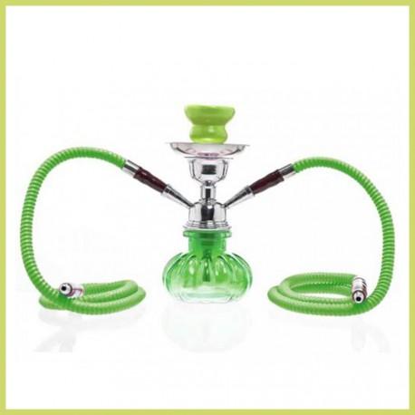 Shisha doble de color verde (27 cm)