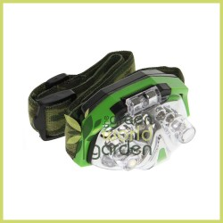 Linterna frontal LED verde LUMII
