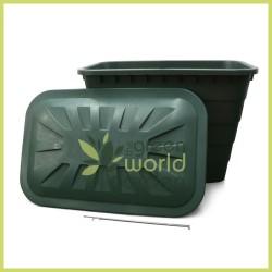 Depósito rectangular verde - 520 Litros