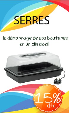 Promotion mini serres au growshop The Green World Garden